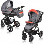 Carucior 2 in 1 CROONER Red Gray