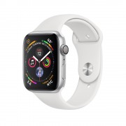 Умные часы Apple Watch Series 4 GPS 44mm Silver Aluminum Case with White Sport Band MU6A2 (Серебристый/Белый)