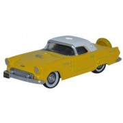 Oxford Diecast 1:87 Scale 1956 Ford Thunderbird In Goldenglow Yellow & Colonial White