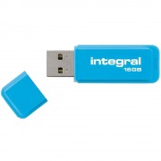 Stick USB 16GB Neon 3.0 Albastru INTEGRAL