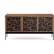 BDI Elements 8777 with Ricochet Doors, Console Base and Natural Walnut Finish