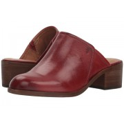 Frye Claire Mule Red Clay Waxed Full Veg