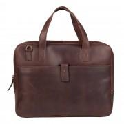 Burkely Laptoptas Burkely Noa Vintage Businessbag Slim Dark Brown 14 inch