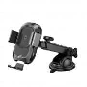 Baseus Smart jármű Konzol vezeték nélküli töltő Elektromos Auto Lock autós tartó Phone Bracket Portál tulajdonosa Qi töltő infravörös érzékelő fekete (WXZN - B01) tok telefon tok hátlap
