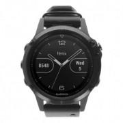 Garmin Fenix 5 Plus Saphir noir avec bracelet en cuir (010-01988-07)