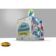 Marturii pentru botez cu Strumfi - cutii pentru bomboane