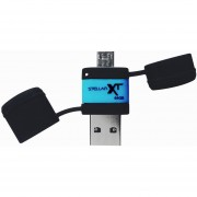 Patriot Stellar Boost XT 64GB OTG USB Drive - USB 3.0/MICRO USB, 110MB/s Read, 43mm Long - PEF64GSTRXTOTG