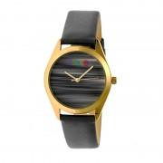 Crayo Graffiti Leather-Band Watch - Gold/Grey CRACR4003