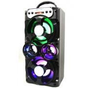Hordozható hangszóró Bluetooth multimédia lejátszó akkumulátorral LED hangszóróval Mp3,FM-Rádió, 3,5 jack, USB, Micro SD kártya - MS-259BT