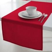Tafelloper 50x150 cm 100% coton tissé teint Pomme d'amour
