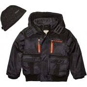 Weatherproof Chamarra Impermeable para niño (más Estilos Disponibles), Paprika Bomber Black Camo, 18/20