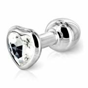 DIOGOL Anni - szíves análkúp - ezüst (3cm)