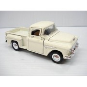 Superior Flying S Die Cast 1955 Chevy 3100 Stepside Pickup 1/36 Scale White