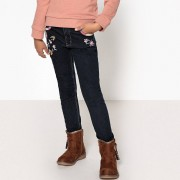 La Redoute Collections Jeans skinny bordados, 3-12 anosAzul Brut- 4 anos (102 cm)