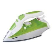 Fier de calcat HIS-1350P, talpa ceramica, 2400 W, 0.28 l, alb-verde