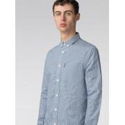 Ben Sherman Main Line Long Sleeve Blue Mini House Gingham Shirt Sml Directoire Blue