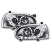 FK-Automotive faro luci di marcia diurna Daylight VW Golf 3 anno di costr. 91'-97 cromato