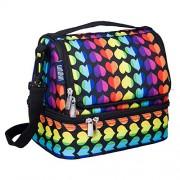 Wildkin Double Decker Lunch Bag, Rainbow Hearts, One Size