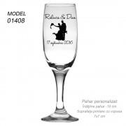 Pahare Sampanie Sticla Personalizate