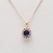Color Jewels ペンダント サファイア (K10)