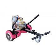 "Skate flash Kit asiento kart street dance + hoverboard skateflash k6 pink rueda 6.5"" bateria 4400mah motor 500w - bolsa de transporte"