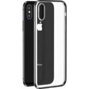 Husa Benks iPhone XS Max Electroplated Transparent/Argintiu
