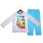 Pijama gri cu albastru Patrula Catelusilor 5ani (110cm)