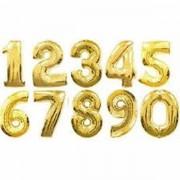 2. szám, fólia lufi, 36 cm, arany