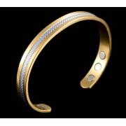 Phy Bracelet magnétique en cuivre avec aimants - motif Lézard