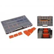 Merkloos Opbergboxen/sorteerboxen zwart/oranje 39 cm