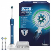 Periuta electrica Oral B Professional 4000 Cross Action, accesorii incluse