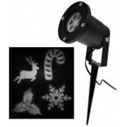 Proiector Laser LED Tip Star Shower 3D Metal InteriorExterior Efecte de Lumini pentru Craciun Culoare Lumini Alb