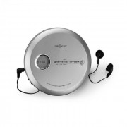 OneConcept CDC 100 MP3 Discman CD-Spelare bärbar Antishock ESP Micro-USB silver