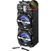 Sistem Audio Akai DJ-T5, dual USB, card SD, Bluetooth, microfon wireless si telecomanda, 300 W (Negru)