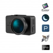 Palubná kamera do auta, GPS, FullHD, CPL filter, parkovací režim