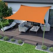 Jarolift Voile d'ombrage carrée, tissu respirant, orange, 360x360 cm