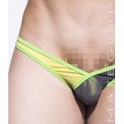 Mategear Rang Jun Extra Low V Front Mesh Sexy Ultra Pouch Bikini Swimwear Dark Grey 2170303