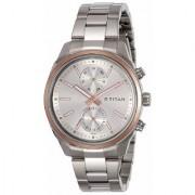 Titan Neo Analog Silver Dial Men's Watch - NK1733KM02