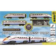 Vlak na baterije express svjetlo&zvuk moderan 133cm