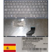 Clavier Qwerty Espagnol / Spanish Pour GATEWAY LT21, Acer One 532H, D260 Series, Noir / Black, Model: ZH9, AEZH9P00010, P/N: 9Z.N3K82.Q0S, KB.1100A.080