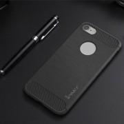 Hoesje geschikt voor Apple iPhone 7 en iPhone 8, gel case carbon look, grijs