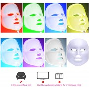 Máscara Led Facial 7 Color Terapia Antiarrugas Cuidado Piel