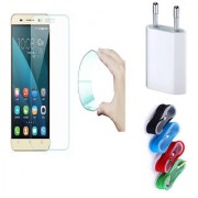 Vivo Y31 Curved Edge 9h HD Flexible Tempered Glass with Nylon USB Travel Charger