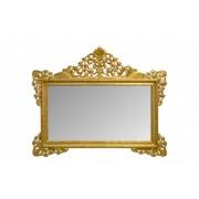 Oglinda dreptunghiulara aurie cu rama din lemn 190x155 cm Baroque Versmissen