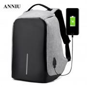 ANNIU Men's big Packback anti-theft Waterproof Laptop Backpack Men External USB Charge Notebook High capacity Multi function bag