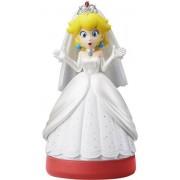 Nintendo Amiibo Super Mario Odyssey Peach Wedding Outfit Figure(Red Base)