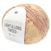 Rico Design Fashion Cotton Light & Long Tweed DK von Rico Design, Grün-Pink