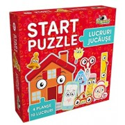 Start Puzzle 4 in 1 - Lucruri jucause, 37 piese