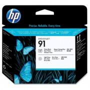 HP 91 Cabeça Impressão para Fotografia Preto e Cinzento Claro