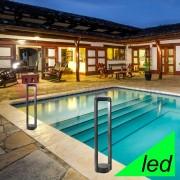 Gea Luce Srl Arizona Lampioncino H. 50 A Led Moderno Da Esterno Ip65 Illuminazione Design